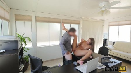 LOAN4K. Rude loan agent films how he bangs cute chick for a credit